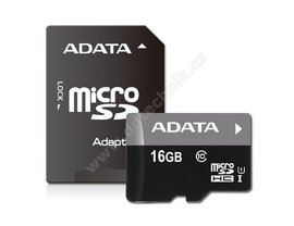 16GB micro SDHC Card ( class 10 ) + adaptér - Kingston